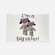 I'm a big sister (purple puppy) Rectangle Magnet