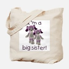 I'm a big sister (purple puppy) Tote Bag