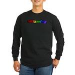 Flaming Long Sleeve Dark T-Shirt