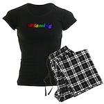 Flaming Women's Dark Pajamas