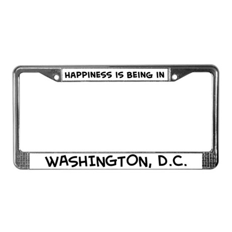 Happiness is Washington, D.C. License Plate Frame