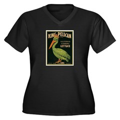 King Pelican Lettuce Women's Plus Size V-Neck Dark