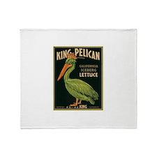 King Pelican Lettuce Throw Blanket
