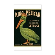 King Pelican Lettuce Decal