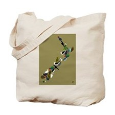 NZ Birds Map Tote Bag