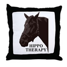 Hippo therapy (Horse Head) Throw Pillow