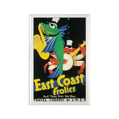 East Coast Frolics Rectangle Magnet