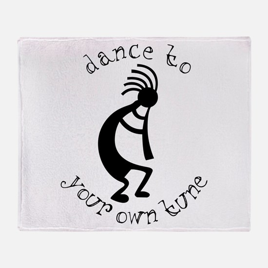 Kokopelli Dance to Your Own Tune Throw Blanket