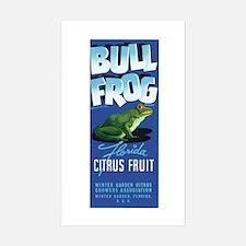 Bull Frog Sticker (Rectangle)