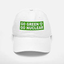 Go Green, Go Nuclear Baseball Baseball Cap