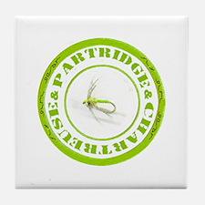 Partridge & Chartreuse Tile Coaster