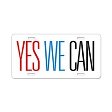 Yes We Can Aluminum License Plate