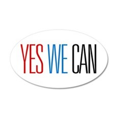 Yes We Can 38.5 x 24.5 Oval Wall Peel