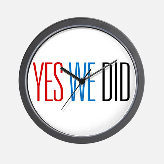 Obama Yes We Did Wall Clock