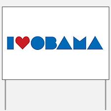 I Heart Obama Yard Sign