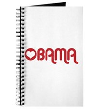 Red Heart Obama Journal