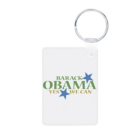 Barack Obama Yes We Can Aluminum Photo Keychain