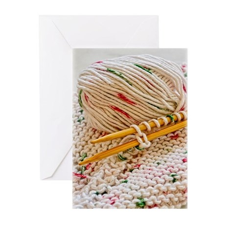 Hand Knit Variegated Yarn Greeting Cards (Pk of 10