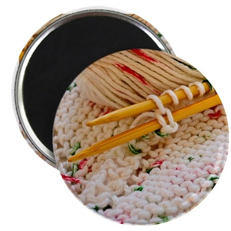 "Hand Knit Variegated Yarn 2.25"" Magnet (100 pack)"