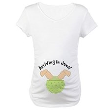 June Due Date Belly Print Maternity Tee