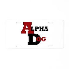 Alpha Dog Aluminum License Plate
