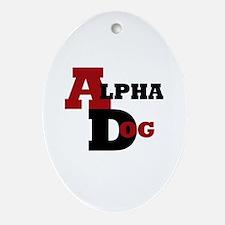Alpha Dog Ornament (Oval)