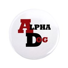 """Alpha Dog 3.5"""" Button (100 pack)"""