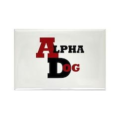 Alpha Dog Rectangle Magnet (100 pack)