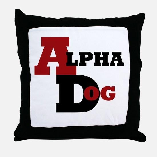 Alpha Dog Throw Pillow