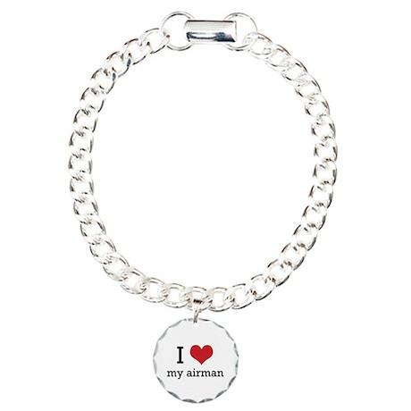 I heart my airman Charm Bracelet, One Charm