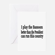 Bassoon Greeting Cards (Pk of 20)