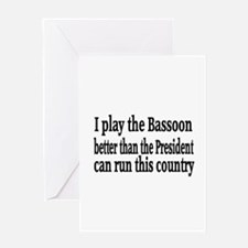 Bassoon Greeting Card
