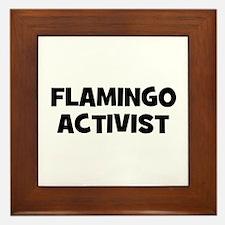Flamingo Activist Framed Tile