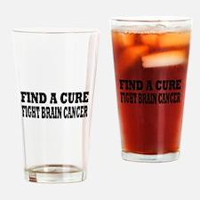 Brain Cancer Drinking Glass