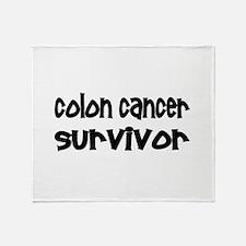 Colon Cancer Throw Blanket
