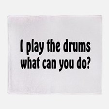 Cute Drum bass Throw Blanket