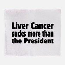 Liver Cancer Throw Blanket