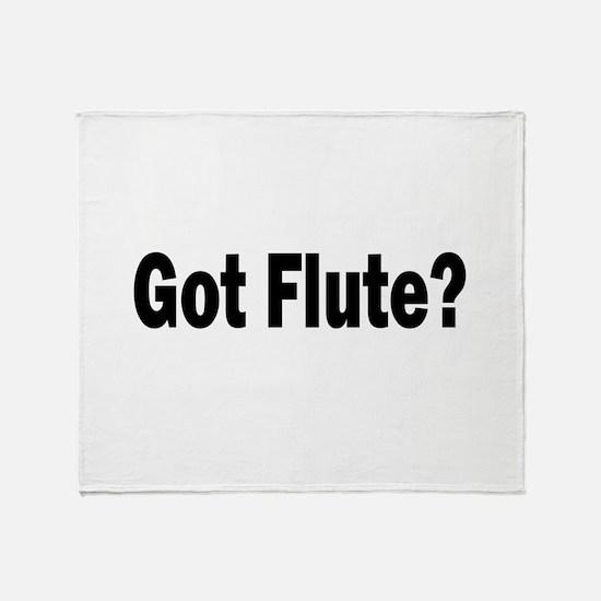 Got Flute? Throw Blanket