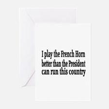 French Horn Greeting Cards (Pk of 10)