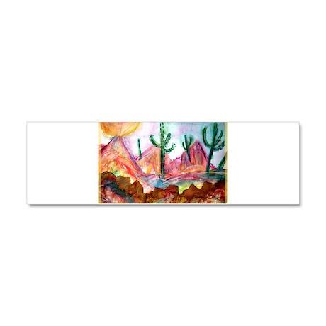 Desert, southwest, art, Car Magnet 10 x 3