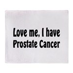 Prostate Cancer Throw Blanket