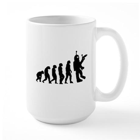 Killer Robot evolution Large Mug