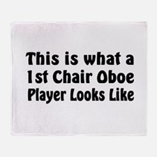 1st Chair Oboe Player Throw Blanket