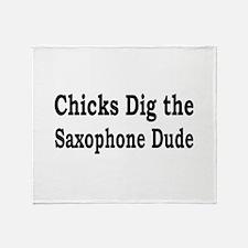 Saxophone Dude Throw Blanket