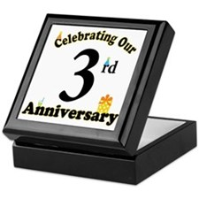 3rd Anniversary Party Gift Keepsake Box
