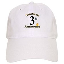 3rd Anniversary Party Gift Baseball Cap