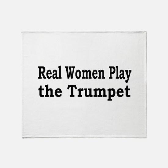 Real Women Play Trumpet Throw Blanket