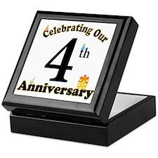 4th Anniversary Party Gift Keepsake Box