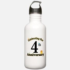 4th Anniversary Party Gift Water Bottle