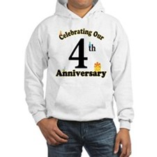 4th Anniversary Party Gift Hoodie